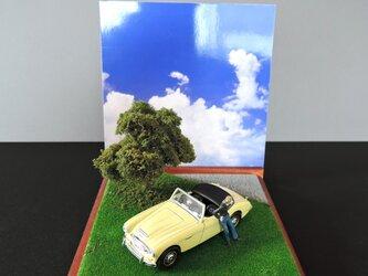 休日のクラシックカー(オースチン・ヒーレー)の画像
