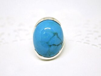 Turquoise ring B / silverの画像