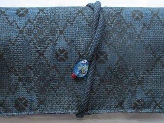送料無料 夏大島紬で作った和風財布・ポーチ 2772の画像