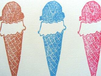 ポストカード(2枚) アイスクリームの画像