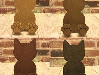 肉球付☆猫型スマホスタンド・iPhoneスタンド☆色変更も可能!の画像