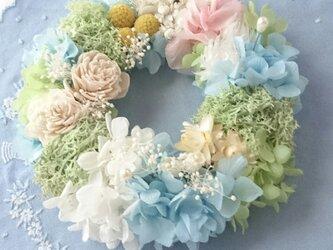 ―ボタニカルcake―花冠風リングピローの画像