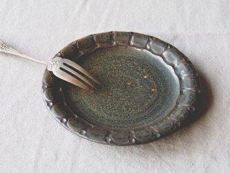 ケーキ皿(丸印) チタン黒の画像