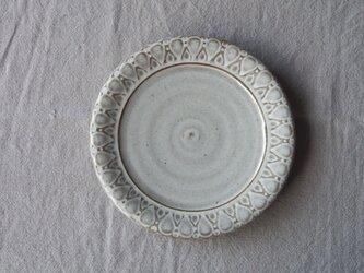 うのふ白釉 パン皿 (しずく模様)の画像