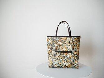 リバティ ラミネートフロントポケットバッグ 「Thorpe」オレンジ系の画像