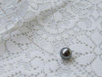 黒蝶真珠のスルーネックレス(K18WG)の画像