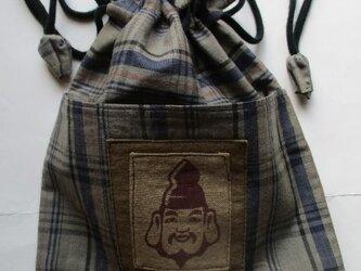 送料無料  羽織の裏地で作った巾着袋 2781の画像