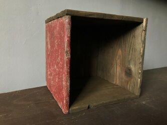 Square Box -1side red medi-の画像