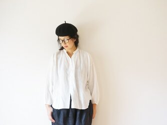 Linen gather blouse LADY'S OFF/Wの画像