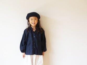 Linen gather blouse 120sizeの画像
