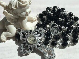 モリオン(黒水晶)のロザリオの画像