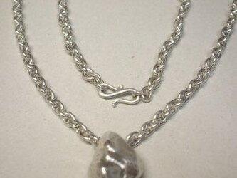 小豆チェーンの手作りのネックレス 極太 pn016の画像