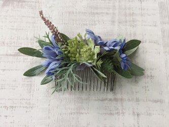 ボタニカル ヘアコーム (blue daisy)の画像