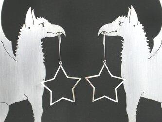 Big Star Pierce Silver 星 ピアス シルバーの画像