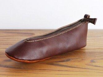 靴型ペンケース DBR×BR-1 #2-1 (イタリアンレザー)の画像