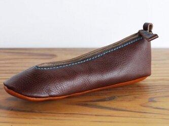靴型ペンケース DBR×BR-2 #2-2 (イタリアンレザー)の画像