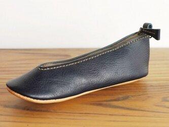 靴型ペンケース NV×BG #3-1 (イタリアンレザー)の画像