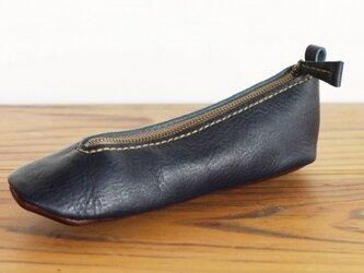 靴型ペンケース NV×DBR #3-2 (イタリアンレザー)の画像