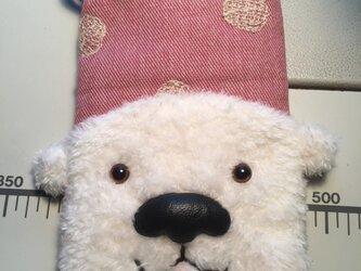 シロクマ携帯ケース(ピンク)の画像
