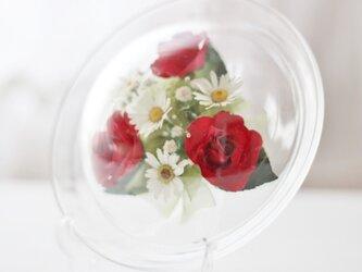 ■ボトルフラワー デッシュタイプ/S  ミニ赤バラ■の画像
