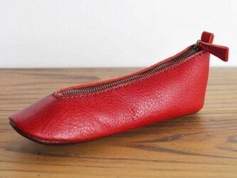 靴型ペンケース RD×DBR #5-3 (イタリアンレザー)の画像