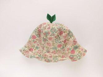 ぐんぐん大きくなあれ!葉っぱハット 花柄 ピンクの画像