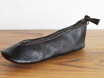 靴型ペンケース BL×DBR #6-2 (イタリアンレザー)の画像