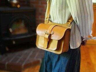 ヌメ革のミニショルダーバッグの画像