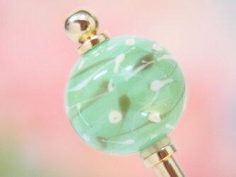 水風船模様とんぼ玉のかんざし ミントグリーンの画像