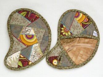 鍋つかみ (めんどり) のペア 草色の画像