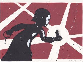 ネズミを逃がす少女(ed:3/8) A4サイズ絵画の画像