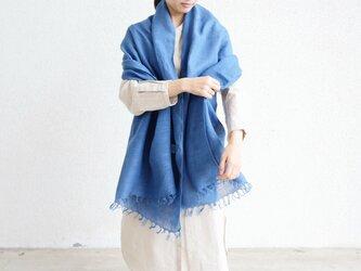 【再入荷】エシカルヘンプ手織りストール 正藍染め藍色 Mの画像