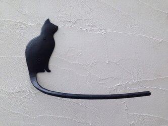 ネコの横顔タオルハンガーの画像
