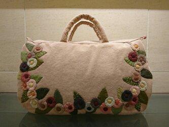 corocoro flower applique bag (L)の画像