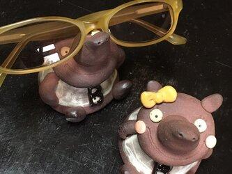 【眼鏡置き】マレーバクちゃんのメガネ乗せの画像