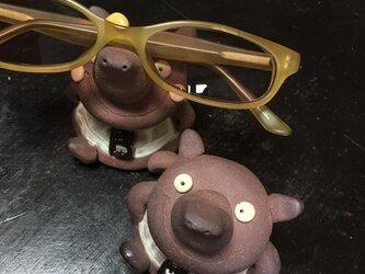 【眼鏡置き】マレーバクくんのメガネ乗せの画像