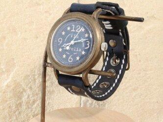 手作り腕時計 Via Aurelia(フルBlue☆&Dark Blue)の画像