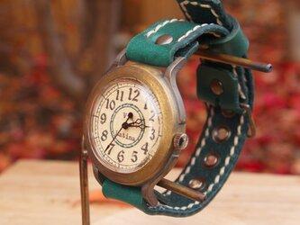 手作り腕時計 Via Latina(レトロGreen & Green)の画像