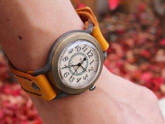 手作り腕時計 Via Latina(レトロGreen & Brown)の画像