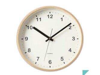 KATOMOKU plywood wall clock km-33Mの画像