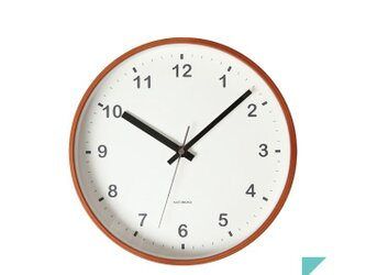 KATOMOKU plywood wall clock km-36Mの画像