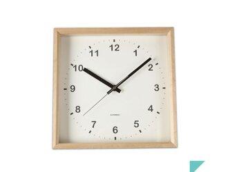 KATOMOKU muku square wall clock km-37Nの画像