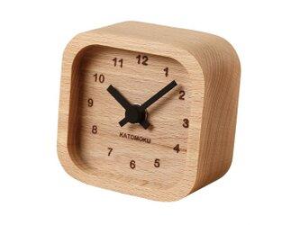 KATOMOKU mini clock km-25黒 角の画像