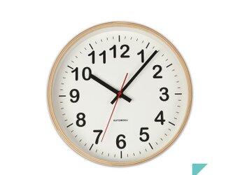 KATOMOKU plywood wall clock 2 Mサイズ φ252mmの画像