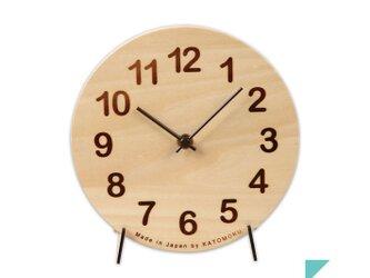 KATOMOKU Dual use clock 置き掛け兼用 スイープ(連続秒針)の画像