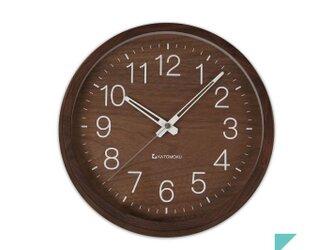 KATOMOKU muku round wall clock 2 Walnut Ver. 電波時計の画像
