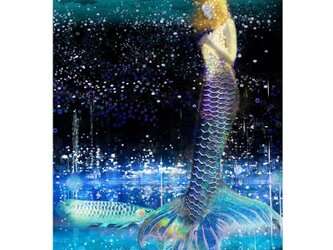 青い人魚【A4サイズ】の画像