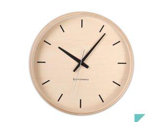 KATOMOKU plywood wall clock 5 電波時計 連続秒針 km-50NRCの画像