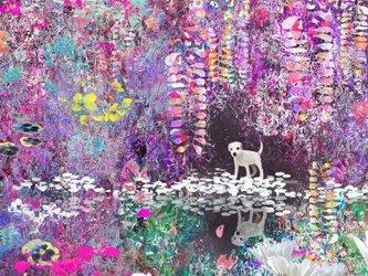 春の子犬【A3サイズ】の画像