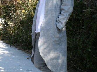 インディゴ・ロング羽織ジャケットの画像